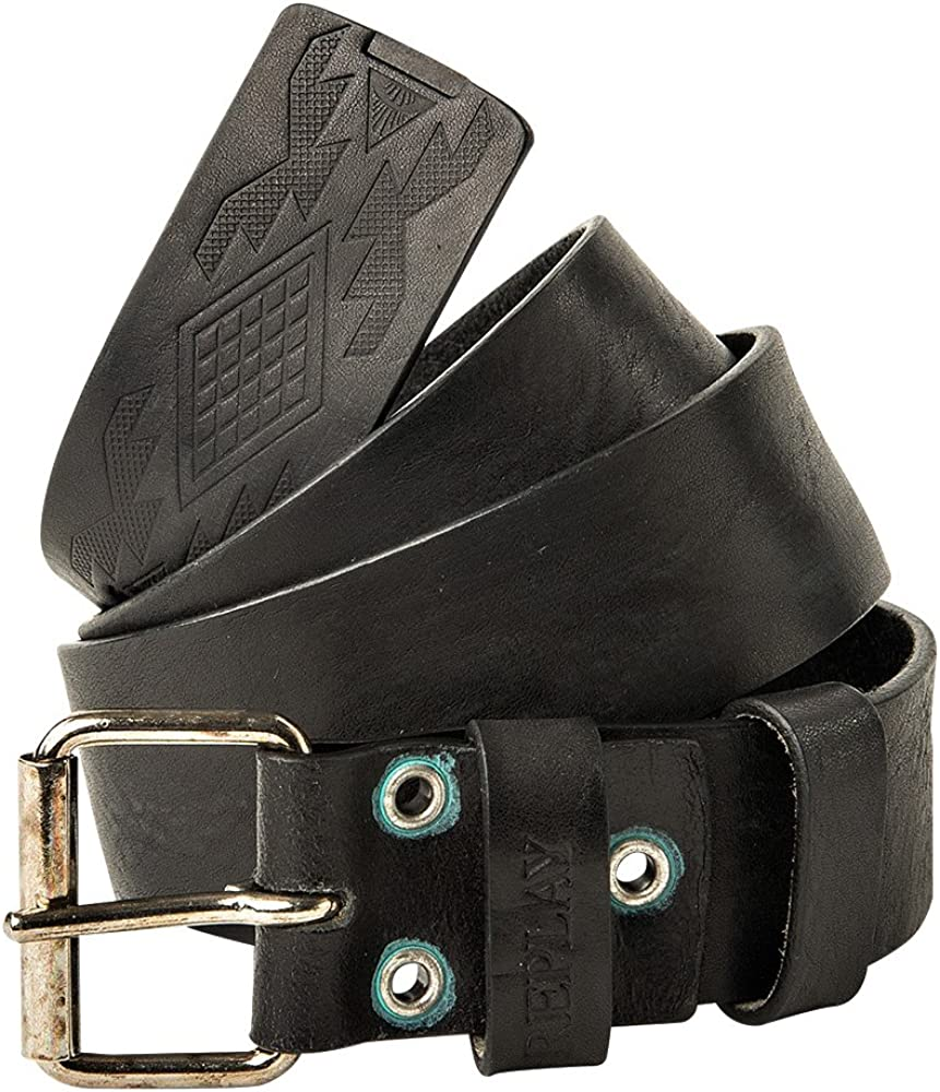 Replay, cintura da uomo,in vera pelle con fibbia in metallo AM2478.000.A3007.098 85