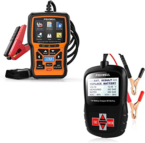 high quality FOXWELL sale Car Battery popular Tester Analyzer BT100 Pro and NT301 Plus Car Scan Tool with Battery Tester sale