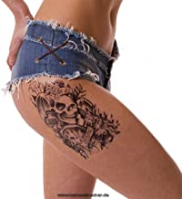 Mann tattoo zwarte arm bovenarm tattoo sticker roz...