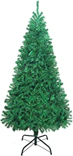 UHINOOS Hinged Artificial Christmas Tree,Unlit Xmas Decoration Tree with Foldable Solid Metal Stand-Green (4FT)