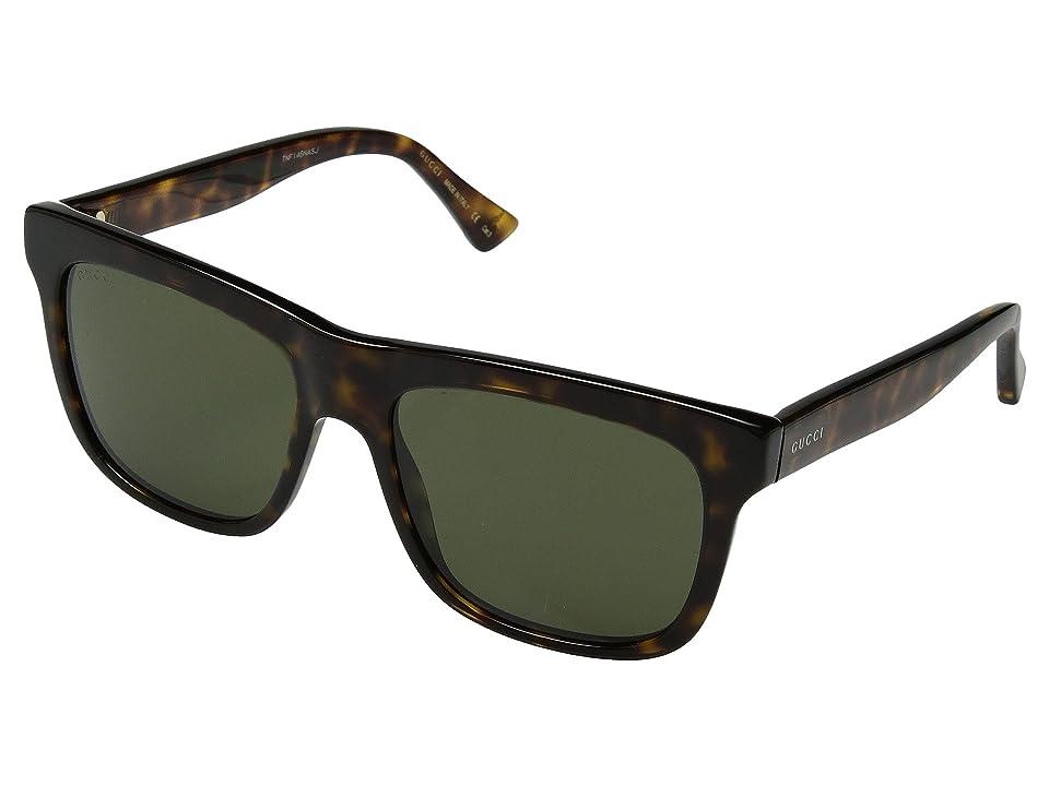 cc5c1674ac Gucci GG0159S (Havana Green) Fashion Sunglasses