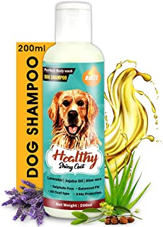 Boltz Dog Shampoo for Healthy Shiny Coat with Aloe Vera,Lavender and Jojoba Oil-Sulphate Free-200ml & Boltz Odour and Urin...