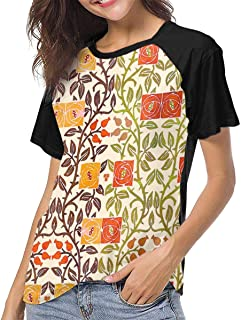 Watercolor Scales Colorful Womens 3D Printed Baseball T-Shirts Short Sleeve Graphic tee