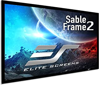 Elite Screens Sable Frame 2 Series, 100-inch Diagonal 16:9, Active 3D 4K Ultra HD Ready Fixed Frame Home Theater Projectio...