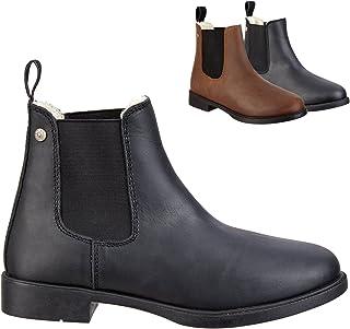 """Chelsea Boot """"JODHPUR WINTER"""" comfortabele enkellaarzen van rundleer   rijschoen met robuuste rubberen zool en lederen bin..."""