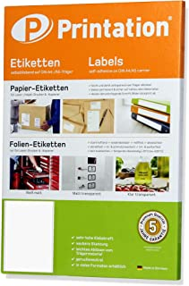 Lot de 100 étiquettes 200 x 297 mm (dIN a4)-autocollantes-blanc - 100 feuilles a4 1 x 1 200 x 297 3418 -