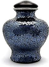 Cremation Urn for Adult, Dark Blue Flat Top