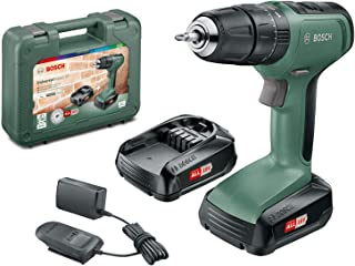 Bosch DIY tools 06039C8171 UniversalImpact 18 Cordless Combi Drill with Two 18 V Lithium-Ion Batteries, Design 2019 | Pale...