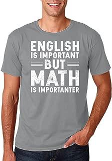 Funny School - English is Important but Math is Importanter, 100% Cotton, Premium Men's T-Shirt