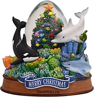 SeaWorld Christmas Tree Snow Globe