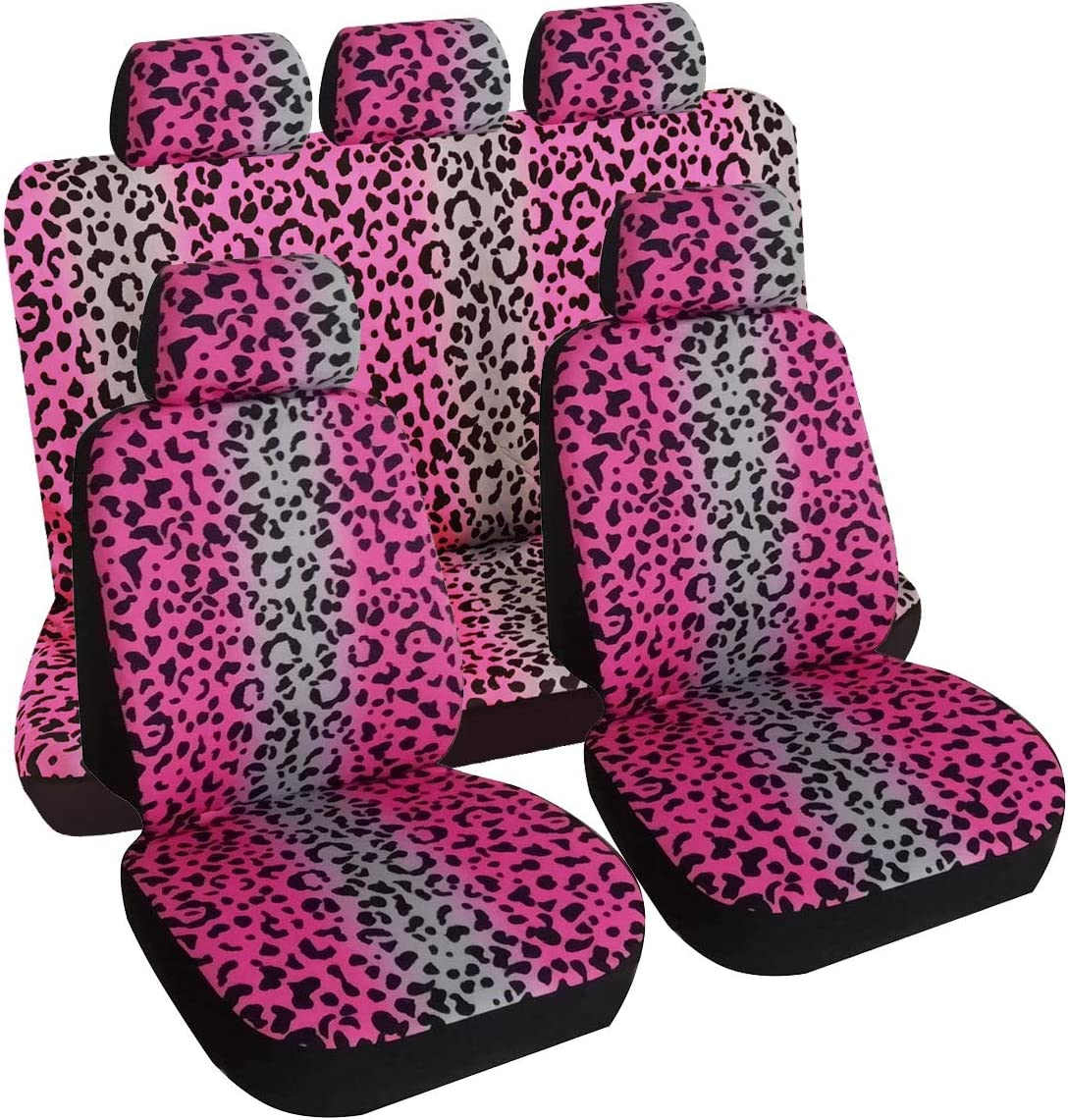 KANGLIDA Leopard Animal Print OFFer Car Seat Full Vehicle Choice S Covers Set