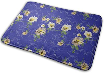 Noisy Bee Flowers Carpet Non-Slip Welcome Front Doormat Entryway Carpet Washable Outdoor Indoor Mat Room Rug 15.7 X 23.6 inch