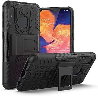 Galaxy A10e Case,AZHEPU Build-in Kickstand Holder Dual Layer Shock Absorbing Rugged Armor Protection Phone Cover Case for Samsung Galaxy A10e (2019) Black