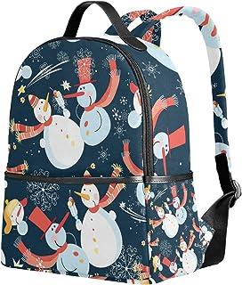 リュック 軽量 レディース 大容量 おしゃれ リュックサック メンズ 通学 多機能 かわいい 雪だるま クリスマス