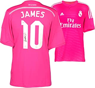 James Rodriguez Real Madrid Autographed Pink Jersey - Fanatics Authentic Certified - Autographed Soccer Jerseys