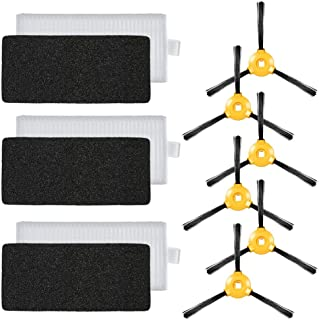 Docooler Pack of 9 Replacement Accessories Kit for Ecovacs Deebot N79 N79S Robotic Vacuum Cleaner-3 HEPA Filters + 6 Side ...