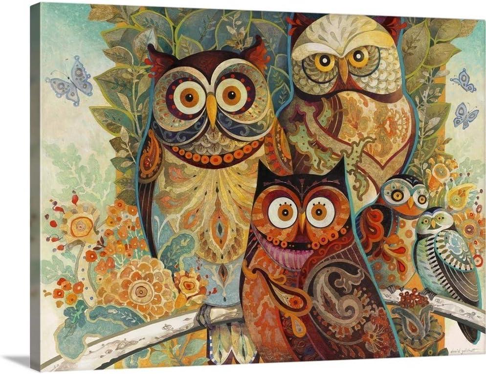 Owls Canvas Wall OFFicial site Art gift Owl Print Artwork
