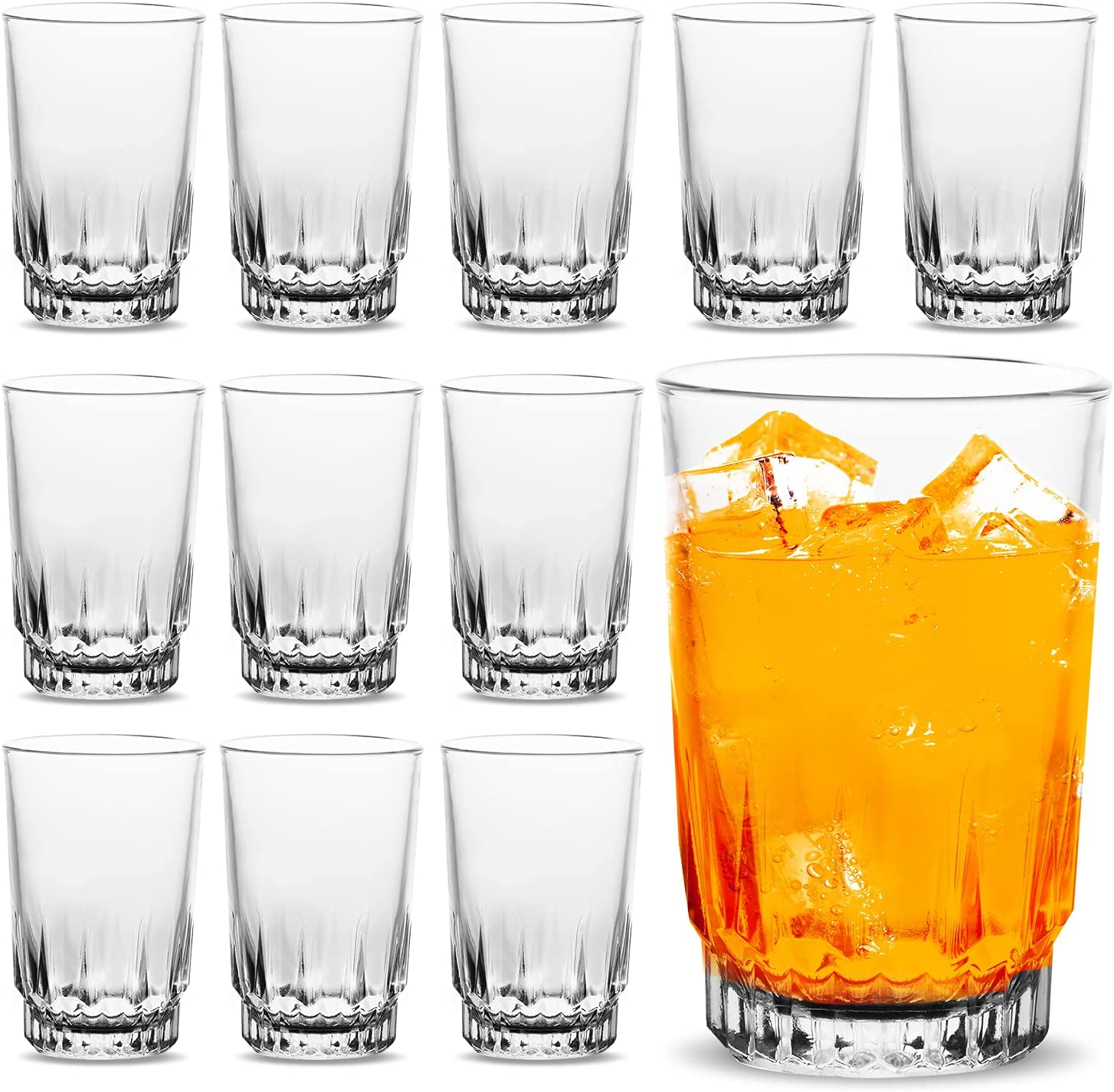 Vikko 5 Year-end gift Attention brand Ounce Juice Glasses: Heavy for O Drinking Base Glassware