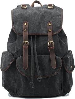 BAOSHA CN-01 Multifunzione Tela Zaini Vintage Zaino Uomo Donna Unisex Canvas Backpack Rucksack Viaggio Zaino Trekking Zain...