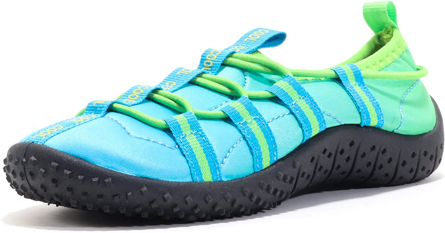 AQUAKIX Toddler Water Shoes for Beach, Ocean, Pool, and Water Sports - Bungie Style Fitting for Your Baby, Toddler, Little Kid, and Big Kid