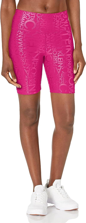 "Topics on TV Calvin Klein Performance Women's Max 63% OFF High 7"" Short Inseam Bike Waist"