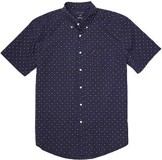 Tommy Hilfiger Mens Classic Fit Buttondown Short Sleeve Woven Shirt