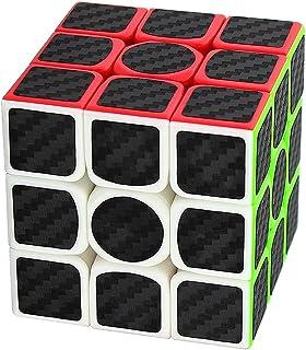 Coolzon Zauberwürfel 3x3x3 Speed Cube Würfel Carbon Faser Aufkleber Neue..