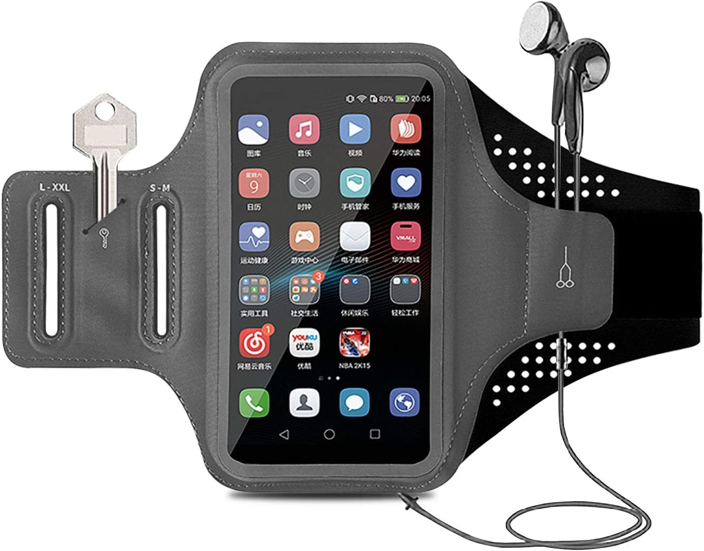 MOVOYEE Armband for Cell Phone Running Armband iPhone Armband 12 11 Pro Max Xs Xr X 8 7 6 Plus SE/Smartphone,Phone Armband Phone Holder for Workout/Sport/Exercise/Fitness/Jogging/Gym Touch ID Sleeve