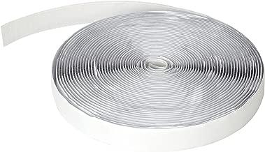 HOOMEE Ruban Adhésif Auto Agrippant pour Moustiquaires Magnétiques- Bande à Lisières - (12Mx2 CM,Blanc)