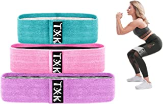 TXK Fabric Resistance Loop Bands for Women, Soft & Non Slip Design,Hip Band - Fabric Resistance Exercise Booty Bands for L...