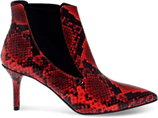 JANET&JANET Luxury Fashion Womens JANET44453PR Red Ankle Boots | Fall Winter 19