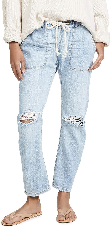 One Teaspoon Women's Shabbies Drawstring Boyfriend Jeans