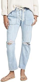 Women's Shabbies Drawstring Boyfriend Jeans