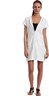 Speedo Women's Aquatic Hooded Zip Front Cover-Up Dress