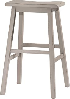 Hillsdale Furniture Moreno Non-Swivel Backless Bar Stool, Distressed Gray