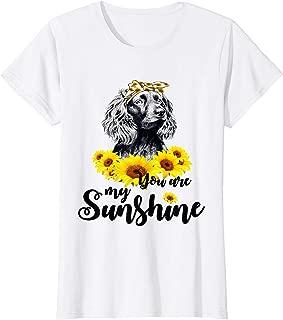 Boykin Spaniel you are my sunshine t shirt, Sunflower and Bo