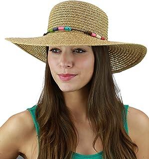 519eaab6445dbb C.C Women's Multicolored Strand Trim Vented Floppy Summer Beach Sun Hat