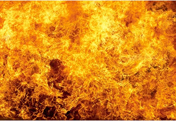 Artistic Fire Flame Grunge Lime Wall Backdrop Polyester 10x6.5ft Child Kids Adult Portrait Photography Background Unique Novelty Scenic Special Effects Studio Props