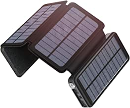 Solar Charger 25000mAh, SOARAISE Portable Power Bank with USB Type-C Input Waterproof Battery Pack for Smartphone, Tablet and Camping