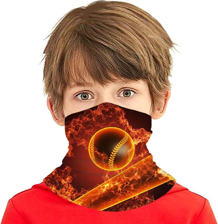 rerw Children High quality new Headwear Face Mask Baseball Fire New York Mall Bat Flames 3D Pri