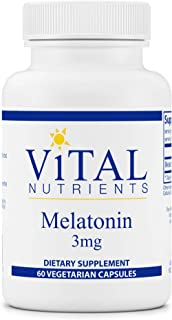 Vital Nutrients - Melatonin - Supports The Body's Natural Sleep Cycle - 60 Capsules per Bottle - 3 mg