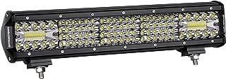 LED Light Bar 15 Inch, OFFROADTOWN 224W Quad Row LED Driving Light Spot Flood Combo Beam OSRAM Light Bar Off Road Fog Light for Truck Vehicle Jeep Wrangler ATV UTV SUV Ford Boat, 3 Years Warranty
