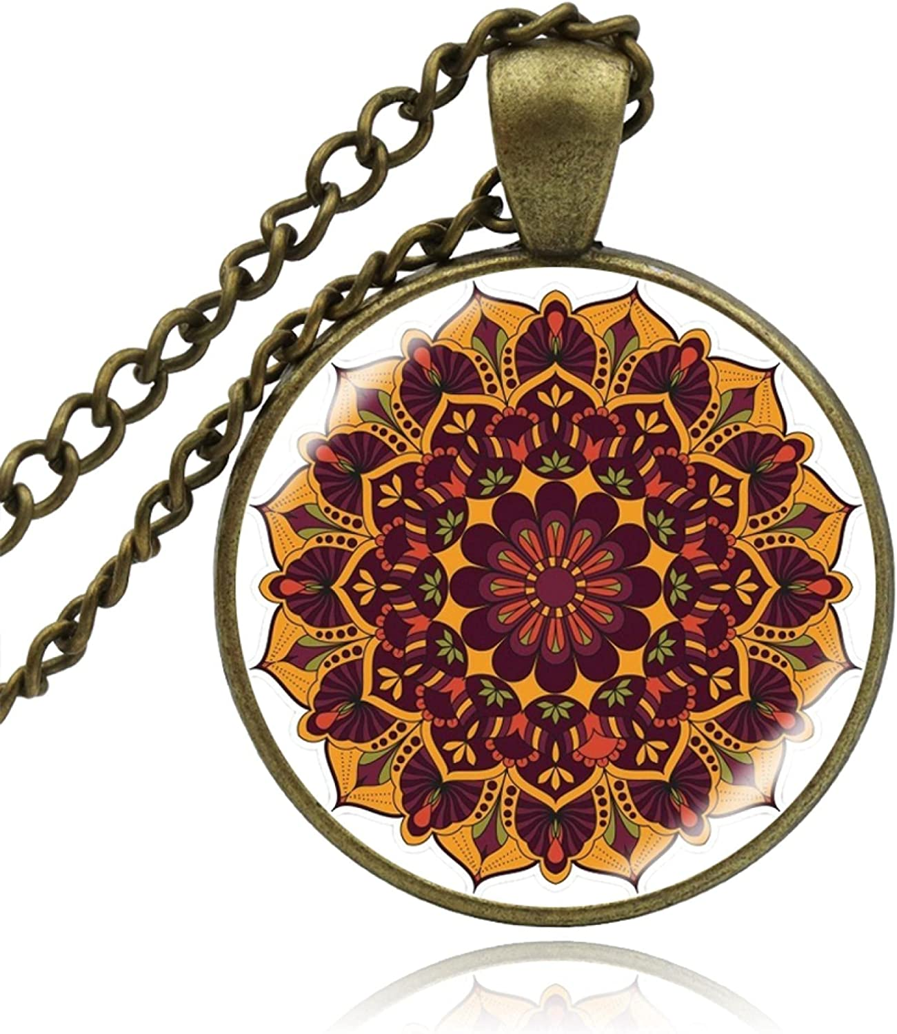 Credence sold out Yoga Pendant Necklaces Handmade Jewelry Mandala Necklace Lotus B