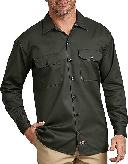 Dickies - Camisa con Manga Larga para Hombre, Color: Amazon ...