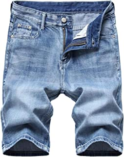 Amoystyle Men's Faded Jean Shorts Size US 28-40
