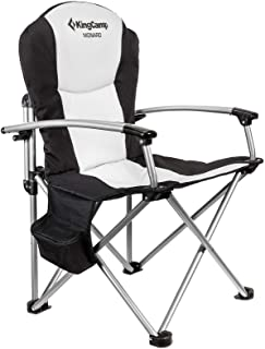KingCamp Camping Chair Heavy Duty Folding Oversize Padded Director's Chair with Carry Bag and Cooler Bag, Supports 353 lb...