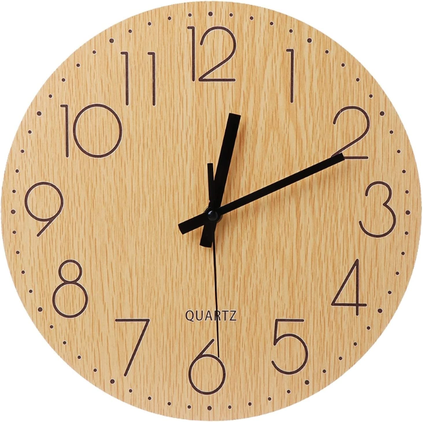 Wall Ranking TOP6 Ranking TOP18 Clock Silent Wooden Vintage Non-Ticking Ar Style