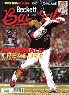 Beckett Baseball Monthly Price Guide Magazine January 2020 National's Treasure Juan Soto