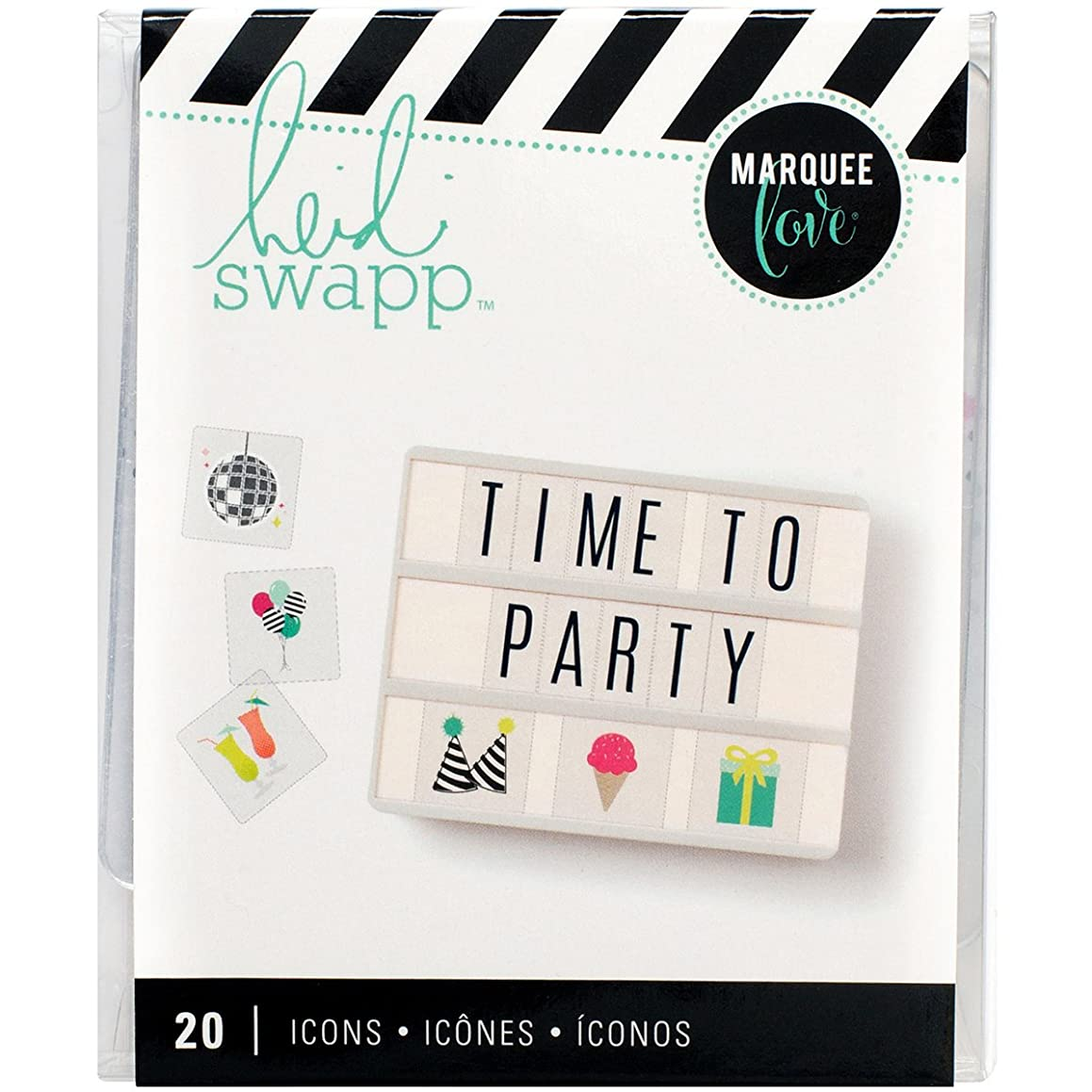 American Crafts Heidi Swapp Lightbox Icon Inserts Party 20 Piece