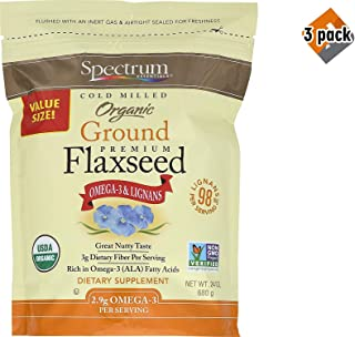 Spectrum Essentials Organic Ground Flaxseed, 24 Ounce - 3 Pack